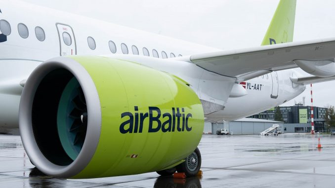AirBaltic Airbus A220 engine issue